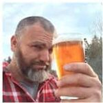 Big Robb with a pint of home brewed beer