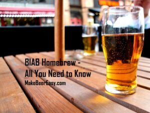 home brewed clear beer on table