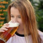girl drinking a home brewed beer