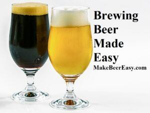 Two Types of Homebrew stout and blonde