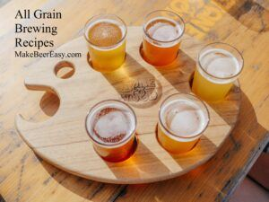a flight of home brewed craft beer