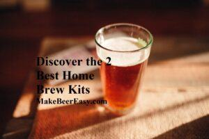 A pint of home brew made from a kit on a bar
