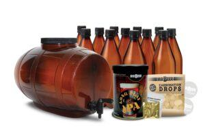 Mr beer kit with fermenter bottles and extract