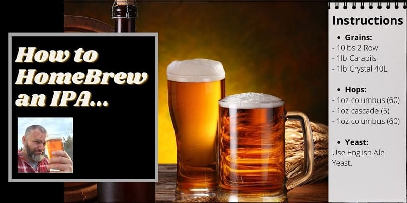 Instructions on how to homebrew an IPA