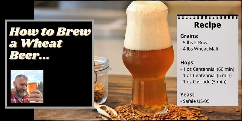 Intructions on how to brew a wheat beer.