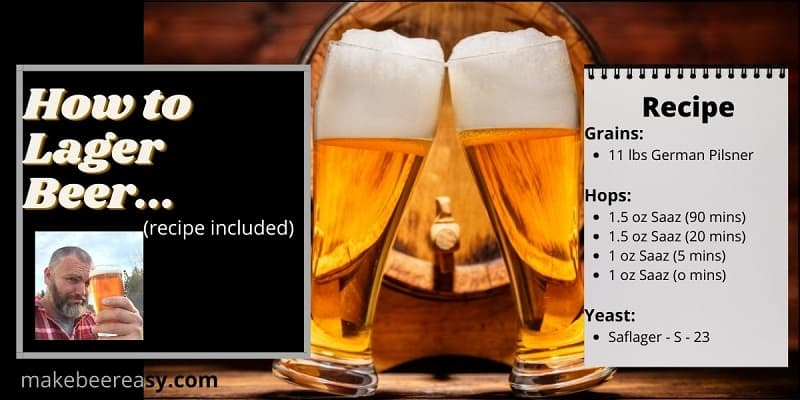 A recipe for how to lager beer